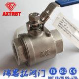 tipo d'acciaio 2PC valvola a sfera BSPT/NPT/BSPP/DIN2999 di 1000wog Ss/Carbon