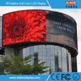Étalage d'écran extérieur polychrome imperméable à l'eau de P8 DEL pour la publicité