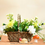 (BC-SF1015)環境に優しいハンドメイドの自然なわらの花のバスケット