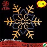 Het LEIDENE het Rode Hangen van de Sneeuwvlok Licht van Kerstmis van de Kabel van de Sneeuwvlok voor de Decoratie van het Huis