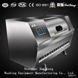 Heizungs-Waschmaschine des Dampf-150kg, die Unterlegscheibe-Zange für Wäscherei-Fabrik aus dem Programm nehmend kippt