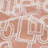 Nylon Embroidery Black Elasticによって女性スカラップで仕上げられるフランスのまつげのレースファブリック
