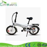 Liga de alumínio  E-Bicicleta de dobramento com bateria escondida