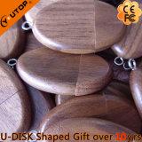 Movimentação de madeira do flash do USB da noz oval quente para o presente (YT-8119)
