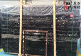 Слябы мрамора дракона китайского начала естественные каменные черные серебряные для настила & стены Clading