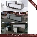 (HX-GL205) Офисная мебель стеклянной верхней встречной таблицы ноги металла самомоднейшая