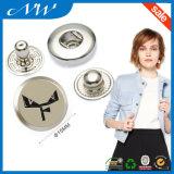 Color de níquel metal personalizada botones de presión logotipo personalizado