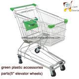 130L Supermercado Asiático Estilo Supermercado Trolley Cart Compras Trolley