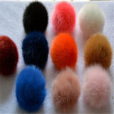毛皮で覆われたウサギの毛皮のポンポンの/Fakeの毛皮のポンポンの/Fauxのウサギのポンポン