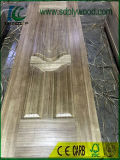 Espesor de piel moldeado HDF de la puerta de la chapa de la teca de Birmania 2.7mm/3mm/4m m