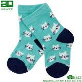 3 pares de calcetines de algodón tejidos al por mayor de los niños