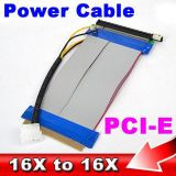 Potencia PCI-E 16X de Molex al cable de cinta de la extensión de 16X los 25cm para el minero de Bitcoin