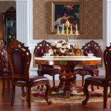Tabela de madeira com a cadeira de couro de madeira do sofá para a mobília Home