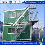 Camera del contenitore del pacchetto piano per il campo di lavoro, accampamento dell'esercito, ufficio