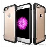 Il respingente sottile trasparente di caso TPU + PC acrilico Anti-Graffia il caso del coperchio del telefono per il iPhone 7