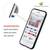 Cubierta superior de la armadura de tela cruzada del silicón del choque de C&T del teléfono de la caja del carbón de la caja absorbente del cuero para el iPhone 7 de Apple