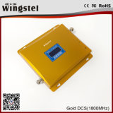 DCS 1800MHz banda única 2G 3G señal del teléfono móvil Repetidor