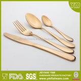 Flatware ajustado do chapeamento de ouro dos utensílios de mesa do aço inoxidável de boa qualidade