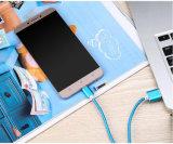 USB de carga de nylon 2.0 de los datos 3.1 un tipo masculino cable de C