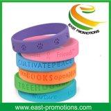 Festival feito sob encomenda braceletes personalizados do silicone para promoções