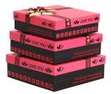 Коробка установленного подарка 3 упаковывая на день празднества