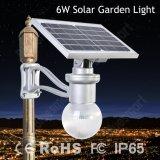 Luz solar solar do jardim da lâmpada de parede do diodo emissor de luz do jardim da montagem 6W da parede