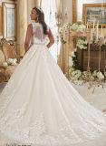 Nieuwe Aankomst plus Kleding van het Huwelijk van de Grootte de Bruids met de Rug van het Sleutelgat