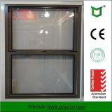 Guichet arrêté simple glaçant simple en aluminium de type américain populaire de Changhaï