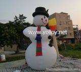 Muñeco de nieve inflable para la decoración de la Navidad