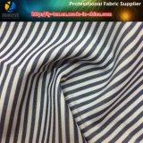 대중적인 T/C 여자 우연한 셔츠를 위한 털실에 의하여 염색되는 줄무늬에 의하여 길쌈되는 직물 직물