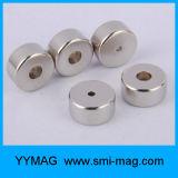 Смесь магнита редкой земли и магнит формы кольца по-разному