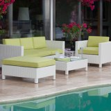 全天候用流行の藤の柳細工のテラスの庭の屋外の家具