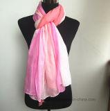 Degrading Pink Viscose Scarf della signora con il rivestimento del mucchio (H7242)