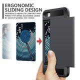 Bumper van de Groef TPU van de Creditcard van het Geval van de portefeuille de Geheime Voor iPhone-6-plus