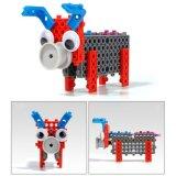 14885504-4 chez 1 animal a changé le jouet créateur éducatif 38PCS réglé par blocs (les petits porcs du nécessaire DIY de bloc de loup trois)