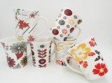 Tazas promocionales de cerámica de encargo con la quema Diseño-10 Oz