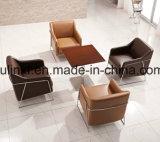 Présidence à base métallique de sofa de loisirs de tissu de meubles élégants de salon (UL-JT829)