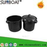 Sunboat 7qt 사기질 주식 남비 사기질 스튜 냄비 /Enamelware/Enamel 기선