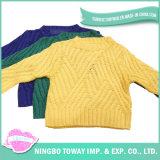 봄 소녀 디자인 아이를 위한 뜨개질을 하는 면 모직 스웨터