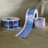 Etiqueta autoadhesiva adhesiva de encargo del PVC de la impresión de la alta calidad