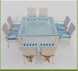 優雅な食事の家具の柳細工の屋外の家具の藤のチェアーテーブル