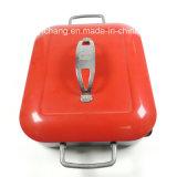 Poêle carré de 28 cm avec couvercle rouge