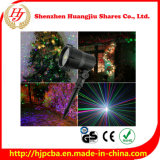 Luce laser del LED con il laser del giardino di telecomando verde chiaro, il colore rosso e l'azzurro