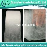 Тумак ноги SMS Non сплетенный для пеленки делая гидродобную Nonwoven ткань SMS для пеленки младенца и пеленки Legcuff взрослого