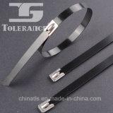 Ataduras de cables revestidas del acero inoxidable del PVC