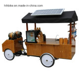 Vélo de vendeurs de chariot avec des entreprises de café