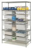 Estante inclinado metal movible del almacenaje del NSF para el hospital/la droguería (SL186078A6CW)
