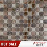 Мозаика цвета кофеего типа Morden, мозаика мрамора смешивания кристаллический стекла