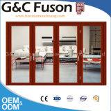 Plegamiento de aluminio del vidrio de la talla estándar/puerta Bifold/puerta de Bifolding