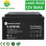 Bateria solar acidificada ao chumbo 12V de pilha seca